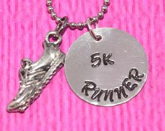 Runner Gifts | 5K | 5k runner | Cross Country | Runner Necklace | Marathon Jewelry | Running Shoe Charm Necklace | Gifts for Runners | 10K by charmedbykobe on Etsy