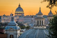 Sunset in Rome (by Fotografie by Oliver K.) - Sunset in Rome (by Fotografie by Oliver K. Beautiful Sky, Beautiful Places, Amazing Places, Places To Travel, Places To See, Travel Destinations, Places Around The World, Around The Worlds, Vatican Rome