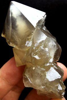 90g Unique NATURAL Unique skeletal Elestial QUARTZ Crystal Point Specimen
