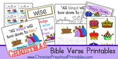 Free Bible Verse Printables from www.ChristianPreschoolPrintables.com