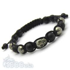 Elégant Bracelet Homme Style Shamballa Perles En Métal+hematite+fil Nylon Noir Numerous In Variety Bracelets
