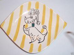 Holt Howard poodle plate