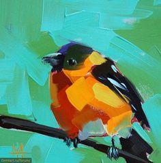 Картинки по запросу Angela Moulton. птички мастихином