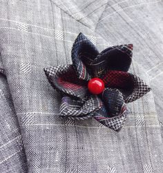 Mens Lapel Pin Flower Lapel Pin Custom Lapel Pins Men Silk Lapel Flower Red White Blue Silk Boutonniere Kanzashi Pin Gifts For Men Colorful
