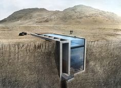 Conceptual Cliffside 'Casa Brutale' on the Aegean Sea 1