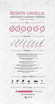 CV / Resume by Renata Cavallin, via Behance