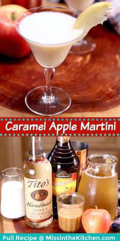 This Creamy Caramel Apple Martini is a delicious twist on the classic cocktail that is so easy to make at home with just a few ingredients. Great for fall entertaining and gatherings with friends. Cocktails For Parties, Easy Cocktails, Classic Cocktails, Vodka Cocktail, Cocktail Desserts, Cocktail Recipes, Caramel Apple Martini, Caramel Apples, Milk Shakes