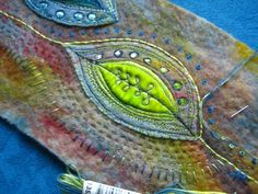 detail of another felt leaf, felting and hand stitching...look here:http:/...