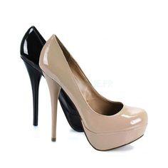 Chaussure a talon verni