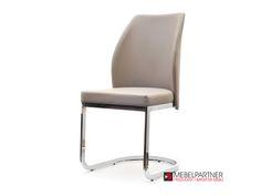 Krzesła z ekoskóry : KRZESŁO NA PŁOZACH ADRIA BEŻOWE