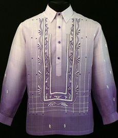 Monochromatic Lavender Barong Tagalog Take Barong Tagalog to the next level of style by adding this new design of embroidery complete with monochromatic color. Barong Tagalog Wedding, Filipiniana Dress, Philippines Fashion, Wedding Men, Wedding Ideas, Wedding Decor, Lavender Dresses, Dress Sketches, Line Shopping