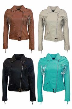 Womens Slim Biker Motorcycle Jacket Soft PU Leather Lapel Zipper Coat Outwear UK