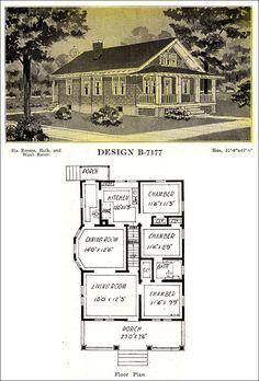 Classic 1918 Craftsman-style Bungalow Design – Shingled Cottage