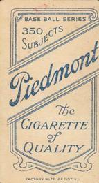 1909-11 The American Tobacco Company T206 White Border #NNO Jim McGinley Back