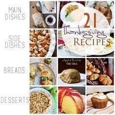 21 Thanksgiving Recipe ~~ Ideas