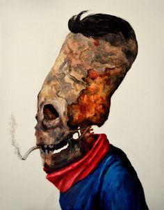 """Kacper Piskorowski """"Sugar man"""", olej na płycie, 100 - 70 cm,  2015m"""