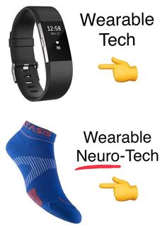 Wearable neurotech comes in different shapes. Benefits are great. Wear the tech. Drug Free, Range Of Motion, Fitbit, Socks, Wellness, Technology, Patches, How To Wear, Arm