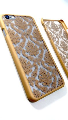 Vintage Gold iPhone Damask Case