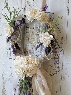 Lavender wreath French Nordic inspired table by AnitaSperoDesign