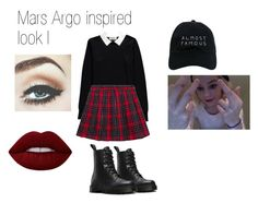 """""""Mars Argo inspired I"""" by ale-yh on Polyvore featuring moda, Nasaseasons, Essentiel, Dr. Martens, Lime Crime, outfit y marsargo"""