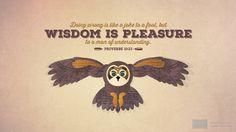 I'm reading Proverbs 10:23