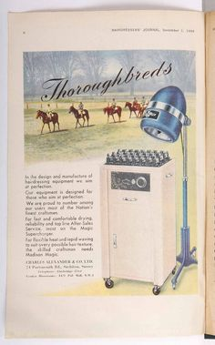 Hairdressing advert from HJ, dating back to the 1940s