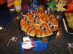 Pirate birthday party ideas for grub.  See more pirate and birthday parties for kids at www.one-stop-party-ideas.com