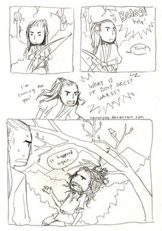 Turin and Beleg. LOL, I think you really get this one only if you have read Children of Húrin.