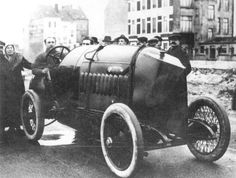 Arthur Duray at Ostend, Belgium preparing for a record attempt in December 1913 FIAT S76  Duray Prepares for Record Run | First Super Speedway