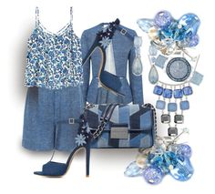 """""""Blue Jean Lady Spends Her Days In A Denim Daze"""" by sharee64 ❤ liked on Polyvore featuring 6thJune, 10 Crosby Derek Lam, ShoeDazzle, MICHAEL Michael Kors, Kenneth Cole, Anne Klein and GUESS"""