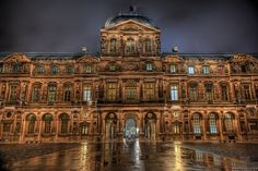 The Musée du Louvre, or officially Grand Louvre -- in English, the Louvre Museum or simply the Louvre  -- is one of the world's largest museums, the most visited museum in the world, and a historic monument. It is a central landmark of Paris, France and is located on the Right Bank of the Seine in the 1st arrondissement (district). Nearly 35,000 objects from prehistory to the 19th century are exhibited over an area of 60,600 square metres (652,300 square feet).