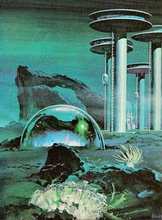 sciencefictiongallery:  Undersea City by Frederik Pohl & Jack Williamson - Unknow artist.