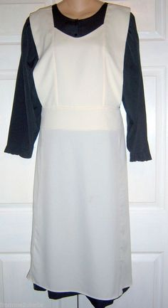 "Lancaster, Pa. Hand Made Amish Dress & Full Pinafore Apron 40""Bust/34""Waist #Amish #Handmade Dress & Full Apron"
