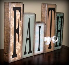 Faith you have to have it. This is also a craft project
