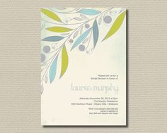 Printable Bridal Shower Invitation  Beautiful by rosiedaydesign, $15.00