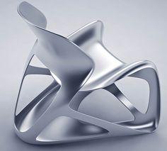 fauteuil A-1 par Dimitri Bez. A-1 est un concept entre fonction et sculpture. C'est une pièce unique en aluminium recyclé. La structure ultra légère se dessine à travers des formes organiques. Car la fonction d'un fauteuil design va bien au delà d'une simple assise, il habille et impose un style au sein de l'intérieur.