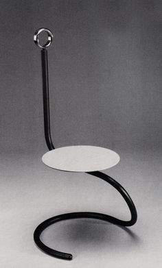 """Noshi chair"" by Jo Nagahara. Design Furniture, Metal Furniture, Unique Furniture, Chair Design, Contemporary Furniture, Furniture Nyc, Furniture Movers, Furniture Outlet, Furniture Ideas"