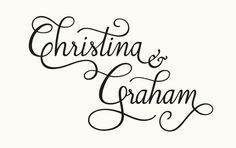 Great logo for for wedding favors or wedding bags.