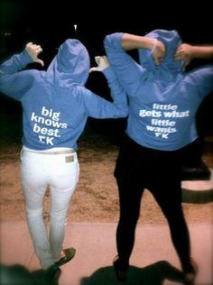 love these big/little sweatshirts