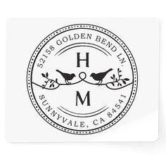 Custom Wood Handle Address Stamp