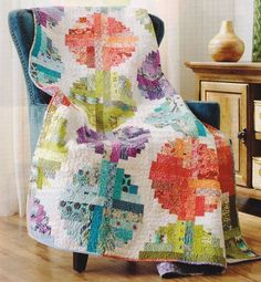 Quilt PATTERN ~ Log Cabin Beads ~ Fun! Scrap Quilting Pattern from Magazine #PATTERNisPAGESfromaMAGAZINE