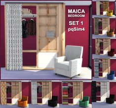 Sims 4 CC's - The Best: Maica Bedroom Set 1 by pqSim4