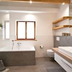 BadezimmerModernisierung Aus Einer Hand Großformatige Fliesen In - Fliesen für nassbereich