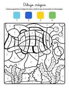Colorea seguindo as instruccións.