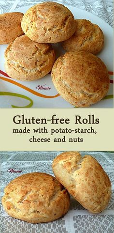 Gluten-free Rolls, made with potato-starch, cheese and nuts. #Passover