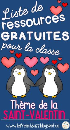 Valentine's Day is considered among my beloved instances to share with my family members and specific good friends French Teaching Resources, Teaching French, Kindergarten Activities, Writing Activities, Teaching Ideas, Valentines Day Activities, Holiday Activities, French For Beginners, Core French