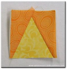 Triangle in a Square Quilt Block Tutorial