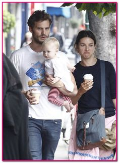 Jamie Dornan and His Wife | Fifty Shades of Grey series, Jamie Dornan, was spotted with his wife ...