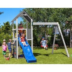 Buy Swing Sets & Swing And Slide Sets online! Swing And Slide Set, Park Swings, Backyard Playground, Tour, Assemblage, Pin, Shops, New York, Games