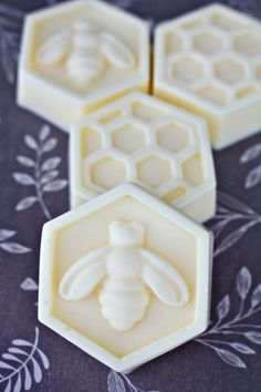 Adorable bee mold for making DIY scented soaps.